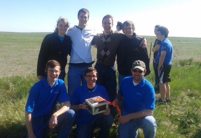 The Edge team with members of Taylor University's ELEOSat