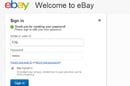 eBay password fail