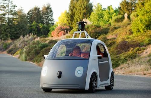 A photo of the new Google self-driving car