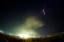 The Soyuz TMA-13M rocket is launched, as seen in this 30-second exposure at the Baikonur Cosmodrome. Credit:  NASA/Joel Kowsky