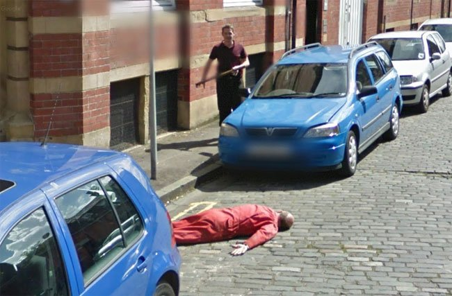 Another view of the murder caught on Street View