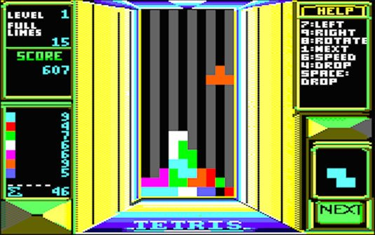 Amstrad CPC release attempted a colourful, headache-inducing 3D effect