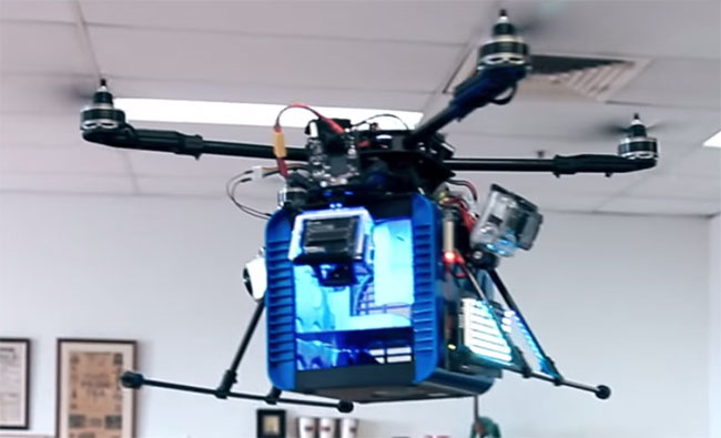 The flying 3D printer