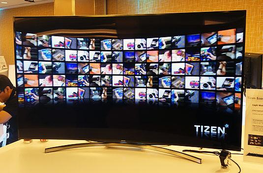 Samsung smart TV running Tizen