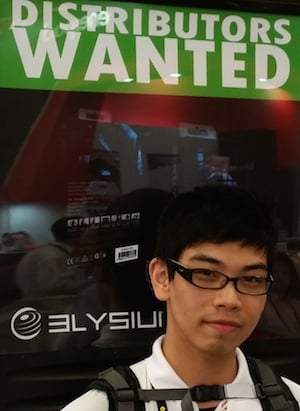 Disties wanted sandwich board at Computex