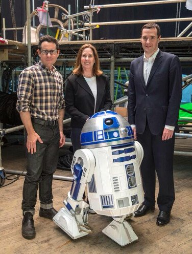 George Osborne on the London set of Star Wars Episode VII