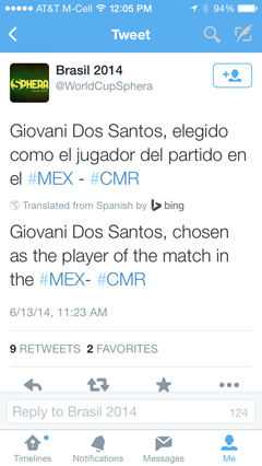 Twitter with Bing Translate