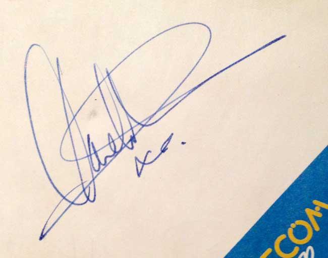 Radio 1 DJ Autograph
