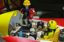 Close-up of the canards connections, with Playmonaut a miniature fireman