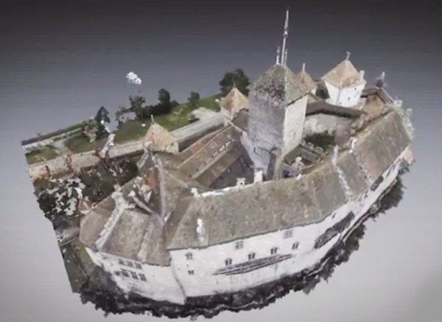 A view of the virtual 3D Chillon Castle