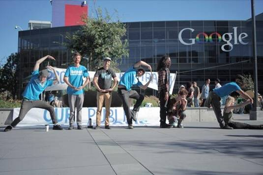 Occupy Google protestors