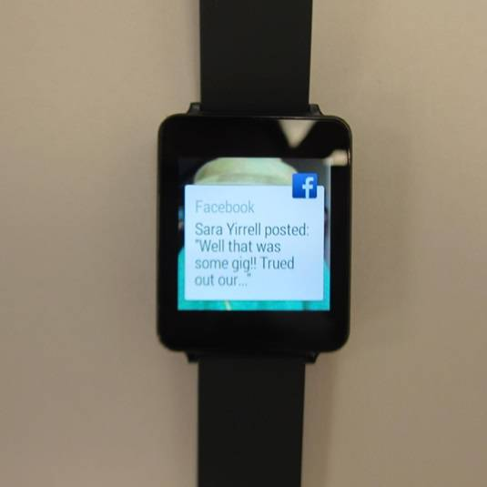 Android Wear Facebook notification