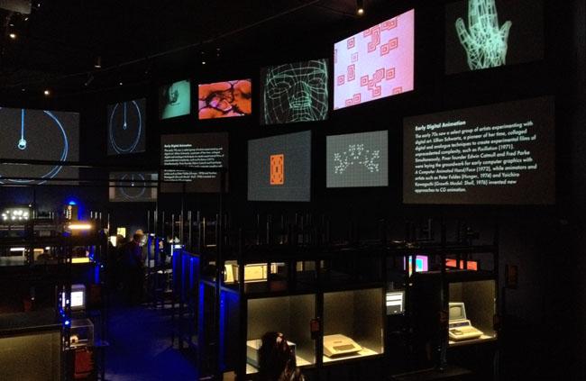 Barbican Digital Revolution Digital Archaeology entrance