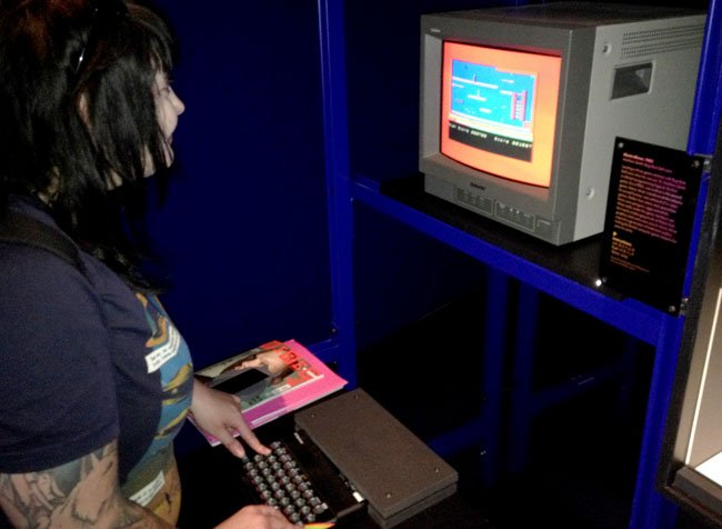Lucy Orr plays Manic Miner on a Sinclair ZX Spectrum