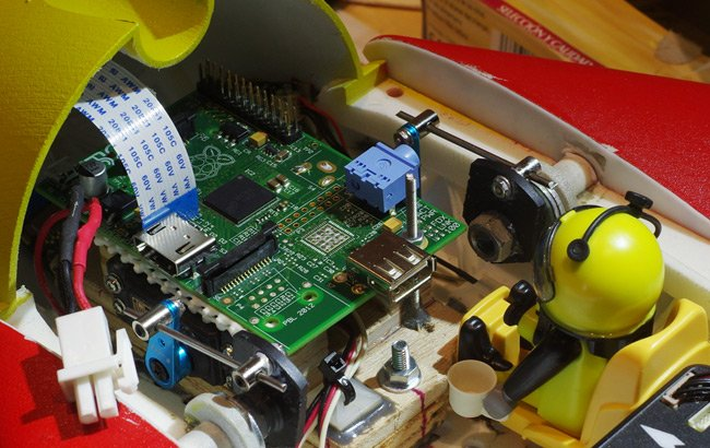 The Raspberry Pi mounted in the Vulture 2