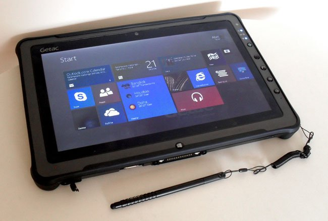 Military Grade Bruiser Getac F110 Rugged Tablet Is No