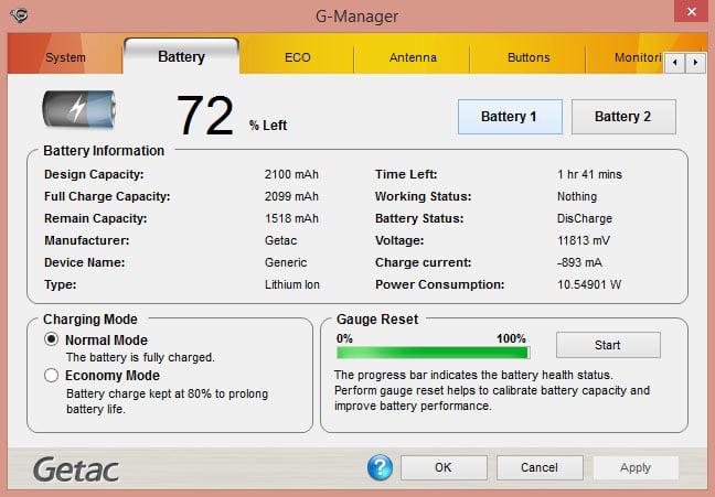 Getac F110 rugged Windows tablet