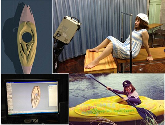 The process of scanning and building a full-sized vagina kayak