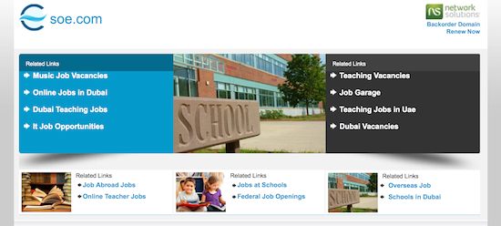 Screenshot of borked soe.com