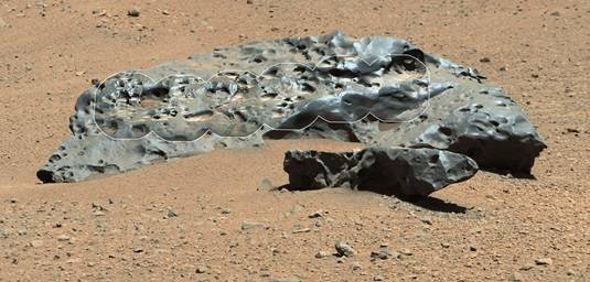 The Lebanon meteorite found by Curiosity