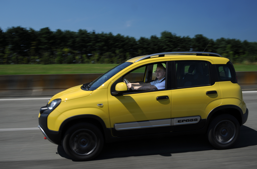 Taking the Panda Cross around the Fiat test track