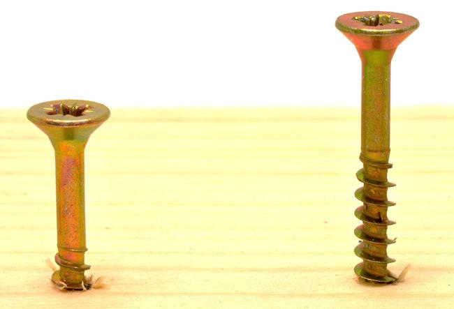 Two left-handed screws