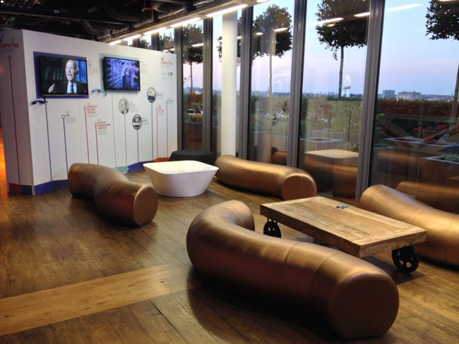 Google UK reception furniture