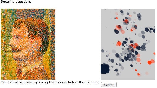 Guy Abbott's Seurat CAPTCHA