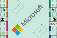 Microsoft-themed Monopoly board