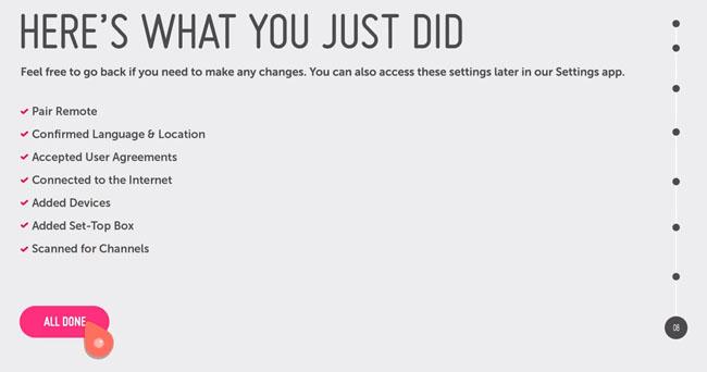 LG webOS setup summary