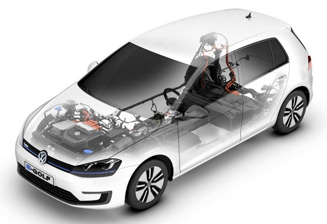Volkswagen e-Golf structure