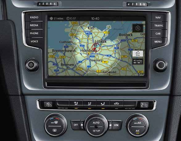 Volkswagen e-Golf touchscreen