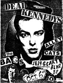 Dead Kennedys: Fresh Fruit for Rotting Vegetables, The Early Years flyer