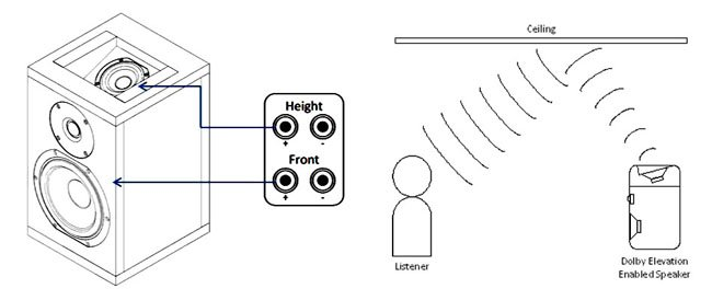 Dolby Atmos enabled speaker with Integrated elevation driver