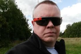 Alun Taylor dons Google tech specs Google Glass