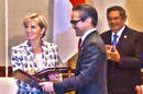 Julie Bishop & Marty Natelagawa