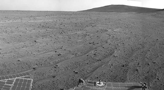 The latest view from Mars sent by Opportunity