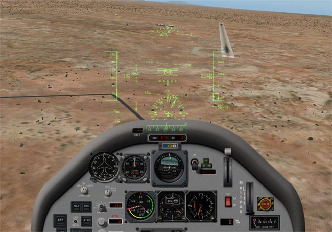 The approach to the runway at Spaceport America