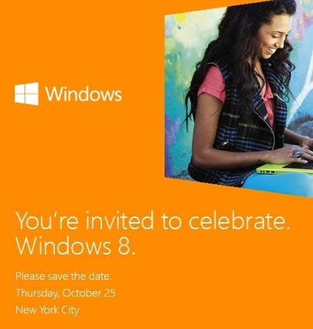 The invitation for the Windows 8 begin in Oct 2012