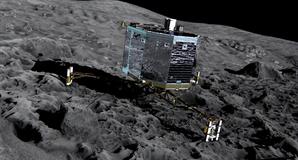 Artist's impression of Philae on Comet 67P