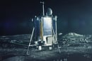CGI image of Lunar Mission One on the Moon