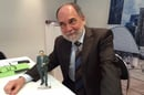 Joseph Reger, Fujitsu cto, with his 3D-printed doppelganger