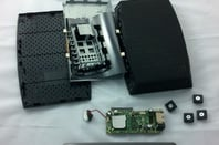 A Seagate Central enclosure disassembled