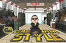 Cartoon of Psy gangnam style