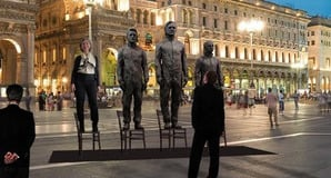 How the bronze statue of Assange, Snowden and Manning would look