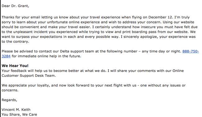 job rejection letter response