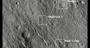 BEAGLE 2 probe on Mars. Pic: University of Leicester