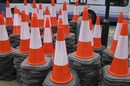 Traffic cones by Squire Morley. licensed under creative commons 2.0 https://creativecommons.org/licenses/by/2.0/
