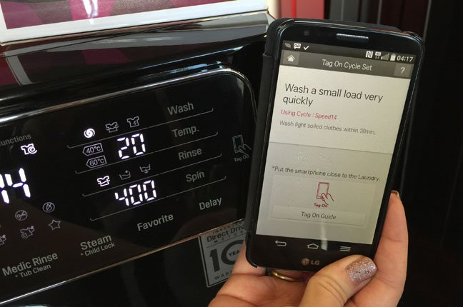 LG's F14U1TBSK8 NFC-enabled washing machine