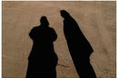 two human shadows